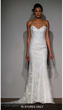 Anna Maier Sylvie Embellished French Lace Gown, Size - Ivory
