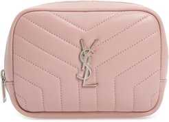 Loulou Matelasse Leather Cosmetics Bag, Size One Size - Tender Pink