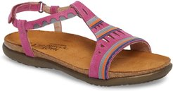 Odelia Perforated T-Strap Sandal, Size 10US / 41EU - Pink