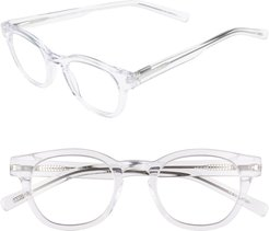 Waylaid 46Mm Reading Glasses - Crystal