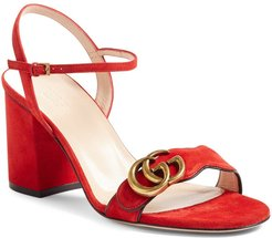 Gg Marmont Sandal, Size 6.5US / 36.5EU - Red