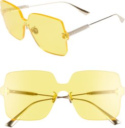 Quake1 147Mm Square Rimless Shield Sunglasses - Yellow