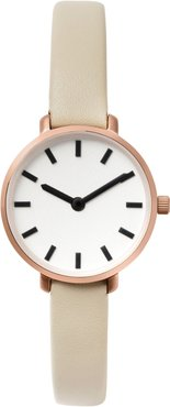 Beverly Round Leather Strap Watch, 26Mm