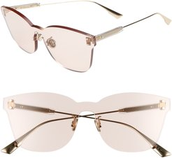 Quake2 135Mm Rimless Shield Sunglasses - Nude