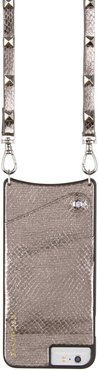 Sarah Metallic Faux Snakeskin Iphone 6/7/8 & 6/7/8 Plus Crossbody Case -