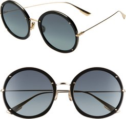 Hypnotic 56Mm Round Sunglasses - Black/ Gold