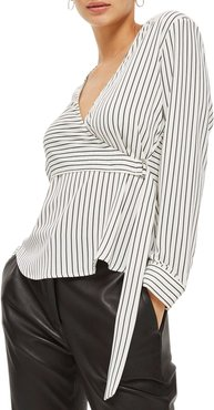 Satin Faux Wrap Top