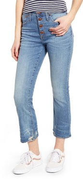 Cali Button Fly Demi Bootcut Jeans