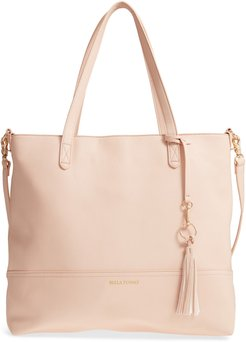 Boss Faux Leather Diaper Bag & Clutch -