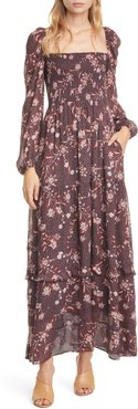 Stratton Floral Square Neck Long Sleeve Maxi Dress