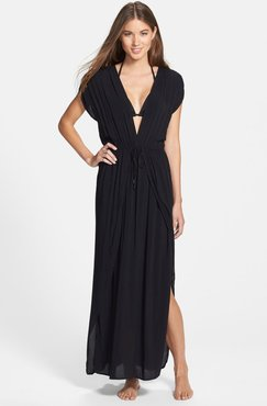 Deep V-Neck Cover-Up Maxi Dress