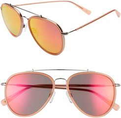 The Last 57Mm Aviator Sunglasses - Amuse Silver/ Apricot Red
