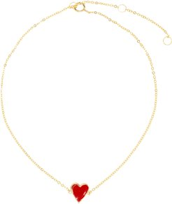 Red Heart Anklet