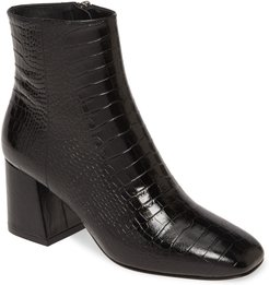 Charm Reptile Embossed Bootie