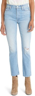 The Dazzler Ripped High Waist Ankle Jeans