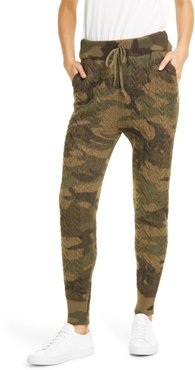 Cable Wool Blend Jogger Pants