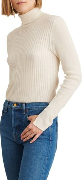 Multi Rib Wool Blend Turtleneck Sweater
