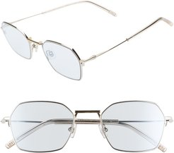 Tempo 51Mm Square Sunglasses - Silver/ Blue