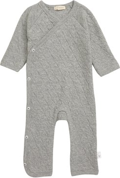 Infant Burt's Bees Baby Quilted Organic Cotton Romper