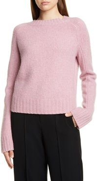 Shrunken Mock Neck Cashmere Sweater