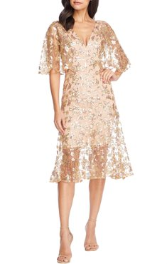 Roseanna Lace Sequin Fit & Flare Dress