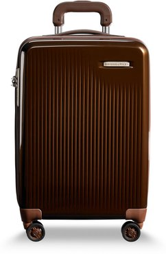 Sympatico 21-Inch Expandable Wheeled Carry-On - Brown