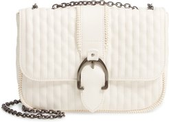 Small Leather Crossbody Bag - Ivory