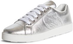 Embossed Logo Metallic Sneaker
