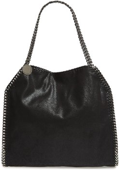 'Small Falabella - Shaggy Deer' Faux Leather Tote -