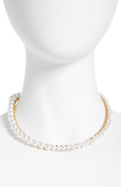 Anais Imitation Pearl Choker Necklace