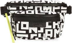 Medium Le Pliage Logo Nylon Belt Bag - Black