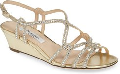 Fynlee Crystal Embellished Wedge Sandal