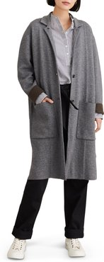 Hall Wool Blend Sweater Coat