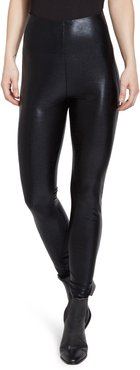 Super High Waist Faux Leather Leggings