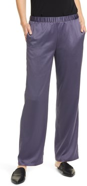 Pull-On Straight Leg Recycled Polyester Pants