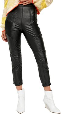 Kaelin Faux Leather Moto Skinny Leggings
