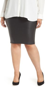 Plus Size Women's Spanx Faux Leather Pencil Skirt
