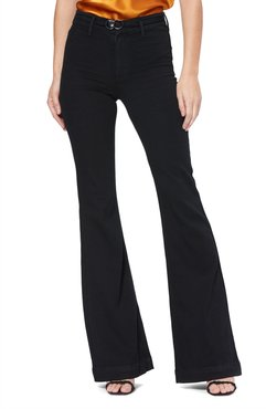 Transcend Genevieve High Rise Buckle Flare Jeans