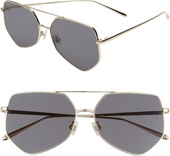 Figueroa 58Mm Sunglasses - Gold/ Black