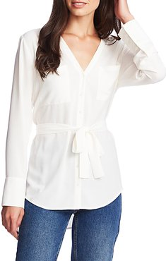 1. State Patch Pocket Belted Shirt