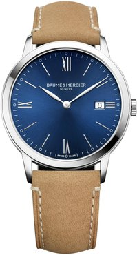 Classima Leather Strap Watch, 40Mm