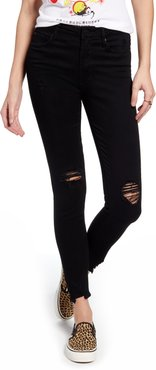 Hilary High Waist Ripped Ankle Skinny Jeans