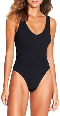 The Mara Ribbed One-Piece Swimsuit