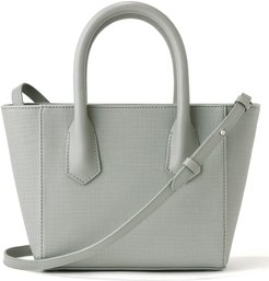 Petite Signature Coated Canvas Tote - Grey