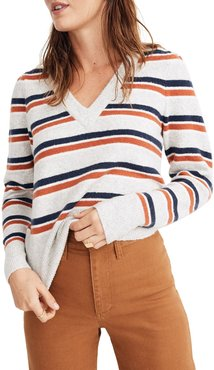 Madwell Stripe V-Neck Sweater
