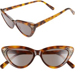 A-Muse 52Mm Sunglasses - Amuse Havana Demi Tort Gray