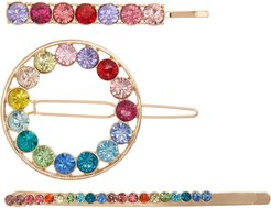 Prince 3-Pack Crystal Hair Clips