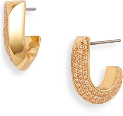 Raise The Bar Small Pave Huggie Hoop Earrings