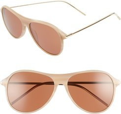 Godspeed 58Mm Aviator Sunglasses - Elm/ Amber