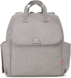 Infant Babymel Robyn Convertible Faux Leather Diaper Backpack - Grey